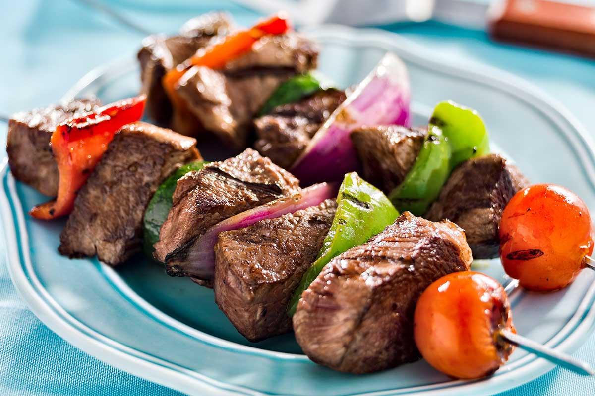 Seasoned Beef Kabobs