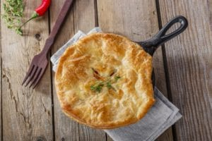 Chicken Pot Pie with Yogurt-Biscuit Topping