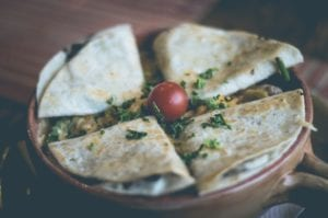 Flying Saucer Chicken Quesadillas
