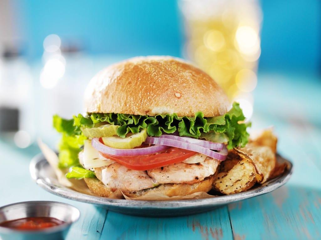 Cilantro-Grilled Chicken Sandwiches