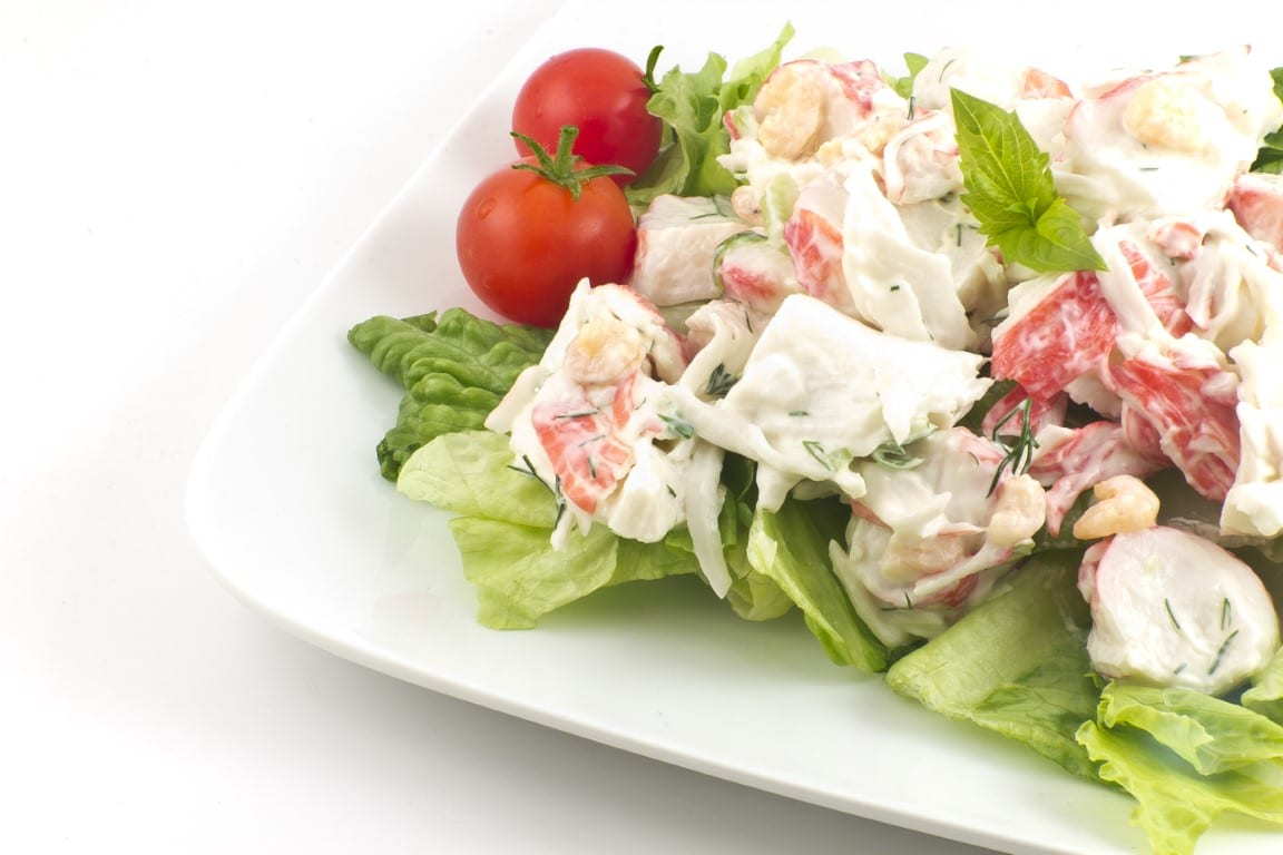 (Very) Low-Fat Crab Salad or Filling