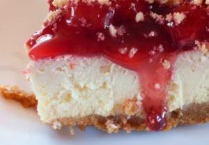 Sugar Free Cranberry Cheesecake