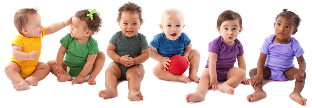 A diverse set of babies.