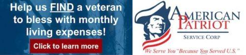 Help us find a veteran.